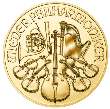 100ks Wiener Philharmoniker 1 Ounce Gold