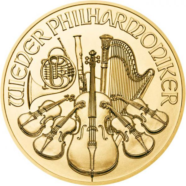 Wiener Philharmoniker 1/10 Ounce Gold