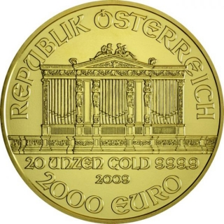 Wiener Philharmoniker 20 Ounce Gold